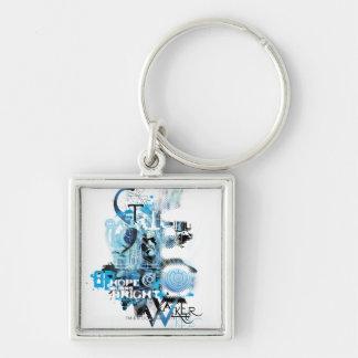 Blue Lantern Graphic 1 Key Chain