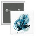 Blue Lantern Graphic 3 15 Cm Square Badge