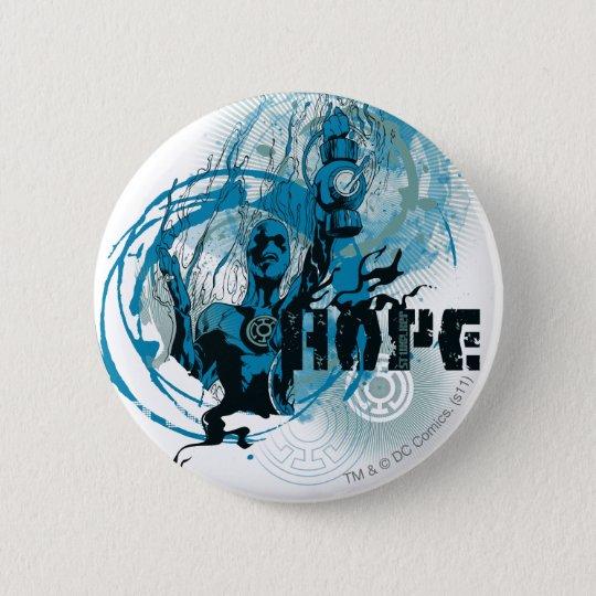 Blue Lantern Graphic 3 6 Cm Round Badge