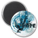 Blue Lantern Graphic 3 6 Cm Round Magnet