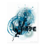 Blue Lantern Graphic 3 Postcard