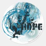 Blue Lantern Graphic 3 Round Sticker