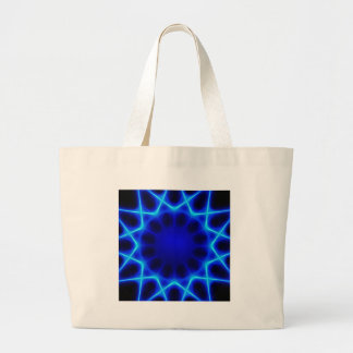 Blue laser #2 large tote bag
