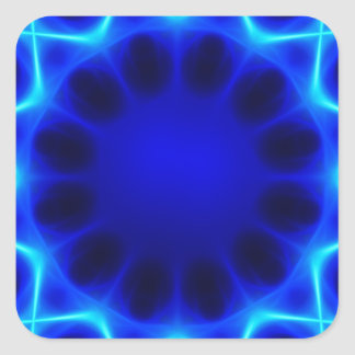 Blue laser #2 square sticker