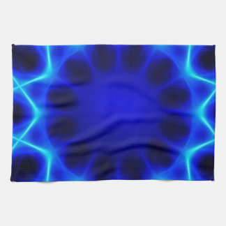 Blue laser #2 tea towel