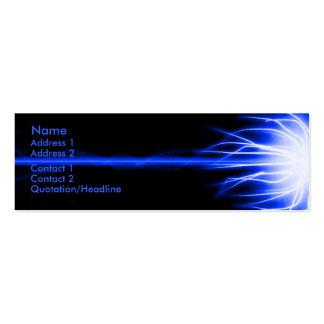 Blue Laser Business Card Template