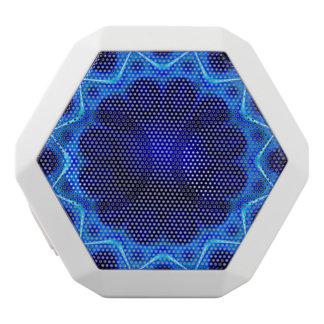 Blue Laser Light Fractal White Boombot Rex Bluetooth Speaker