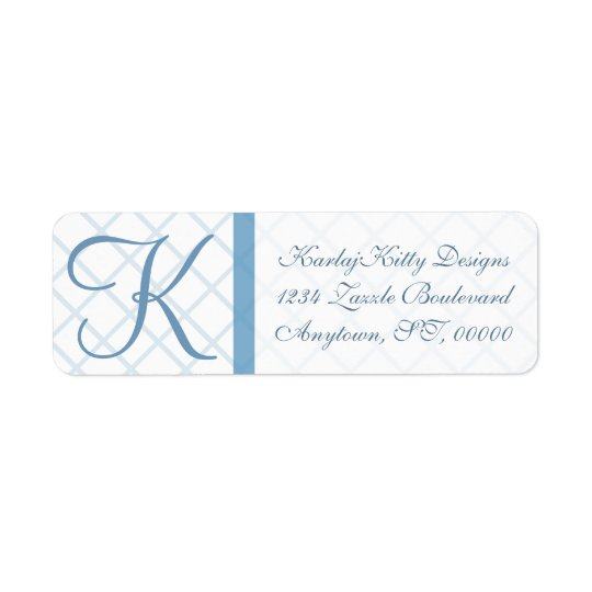 Blue Lattice Custom Return Labels