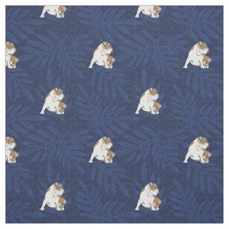 Blue Lauae Bulldog Fabric
