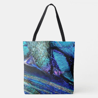 Blue Lava Glass Tote Bag
