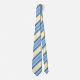 Blue Lavender and Cream Striped Neck Tie