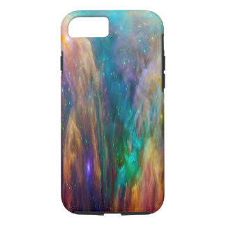 Blue Lavender Cloud Nebula Pink Galaxy Outer Space iPhone 7 Case