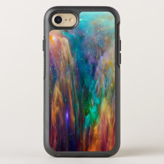 Blue Lavender Cloud Nebula Pink Galaxy Outer Space OtterBox Symmetry iPhone 7 Case