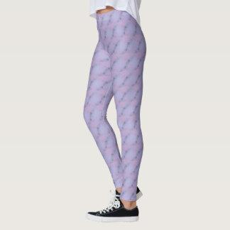 Blue Lavender Floral Leggings