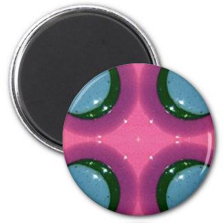 Blue Lavender Magenta Shiny Ceramics Photography 6 Cm Round Magnet