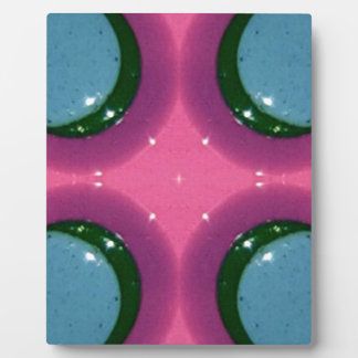Blue Lavender Magenta Shiny Ceramics Photography Plaque