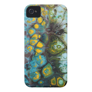 Blue Layered Rock iPhone 4 Cases