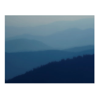 Blue Layers Postcard