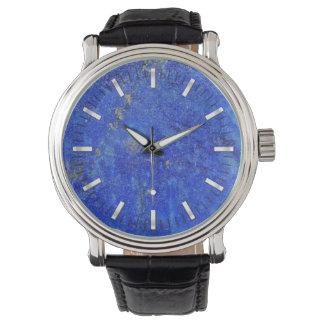 Blue Lazurite Gemstone Wristwatches