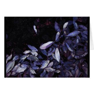 Blue Leaf Shore JTG Art Greeting Card