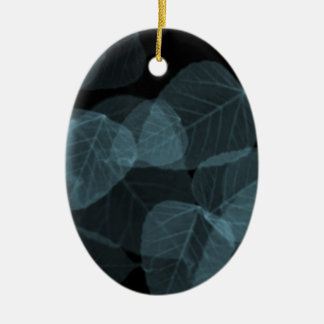 Blue Leaf X-Ray.png Ceramic Oval Decoration