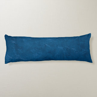Blue leather look body cushion