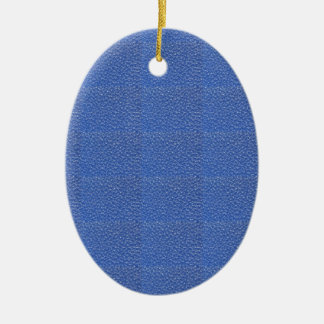 Blue Leather look texture background add text img Ceramic Oval Decoration
