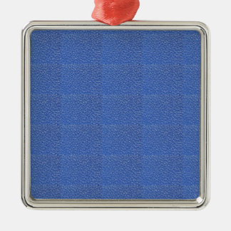 Blue Leather look texture background add text img Silver-Colored Square Decoration