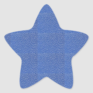 Blue Leather look texture background add text img Star Sticker