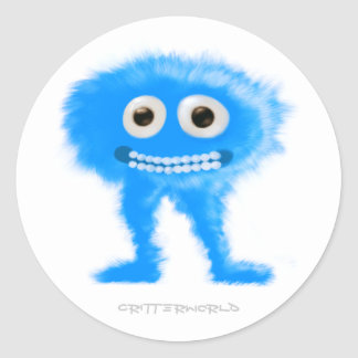 Blue Leggy Critter Classic Round Sticker