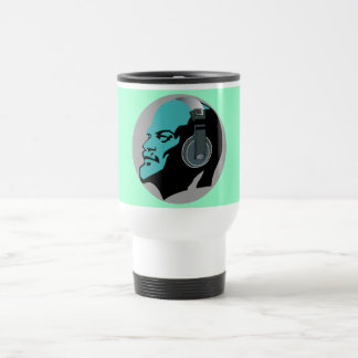 BLUE LENIN WITH HEADPHONES Travel/Commuter Mug