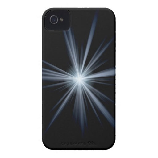 Blue Lens Flare Burst iPhone 4 Cover