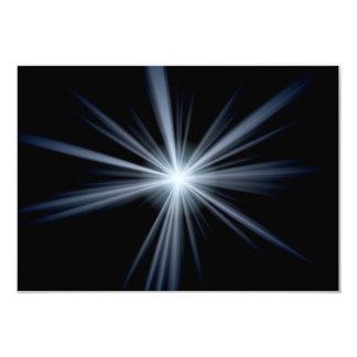 Blue Lens Flare Burst 3.5x5 Paper Invitation Card