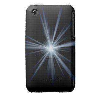 Blue Lens Flare Burst iPhone 3 Case-Mate Case