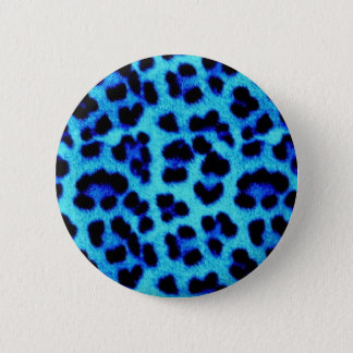 Blue Leopard 6 Cm Round Badge