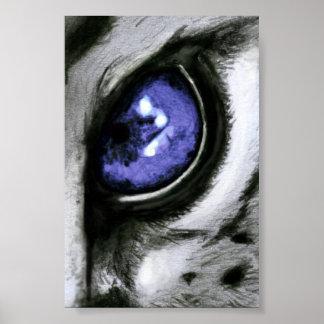 Blue Leopard Eye Poster