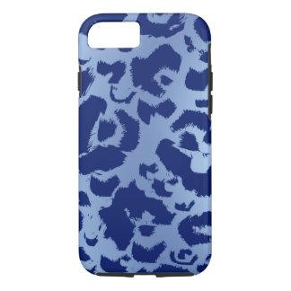 Blue Leopard Jaguar Print Dark Light Gradient iPhone 8/7 Case