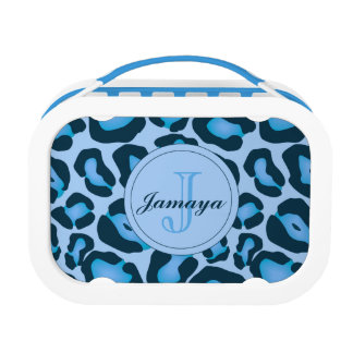 Blue Leopard Lunch Box