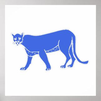 Blue Leopard Posters
