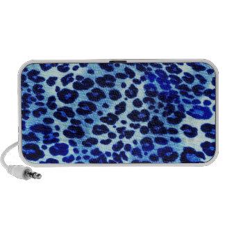 blue leopard print mini speaker