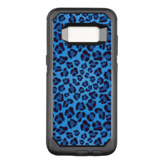 blue leopard texture pattern OtterBox commuter samsung galaxy s8 case