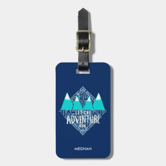 Blue Let the Adventure Begin Luggage Luggage Tag