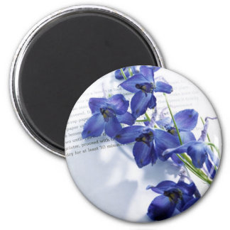 blue letter 6 cm round magnet
