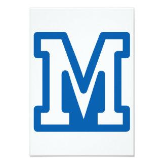 Blue Letter M Invitations