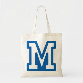 Blue Letter M Tote Bag