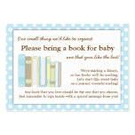 Blue Library Baby Shower Book Insert Request Card Business Cards