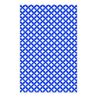 Blue Light And White Mesh Graphic Art Pattern Stationery Paper