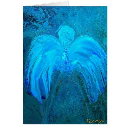 Blue Light Angel Greeting Card