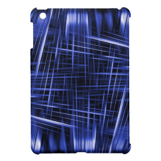 Blue light beams pattern iPad mini cases