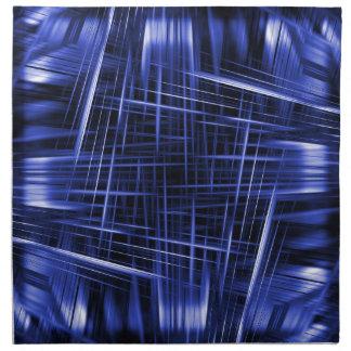 Blue light beams pattern napkin